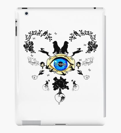 I Dream In Color - Black Silhouettes on White iPad Case/Skin