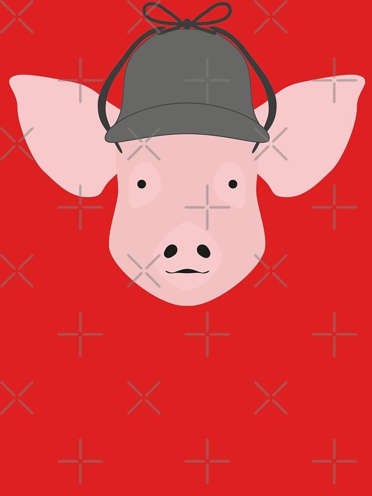 NDVH Pig Wearing a Deerstalker by nikhorne