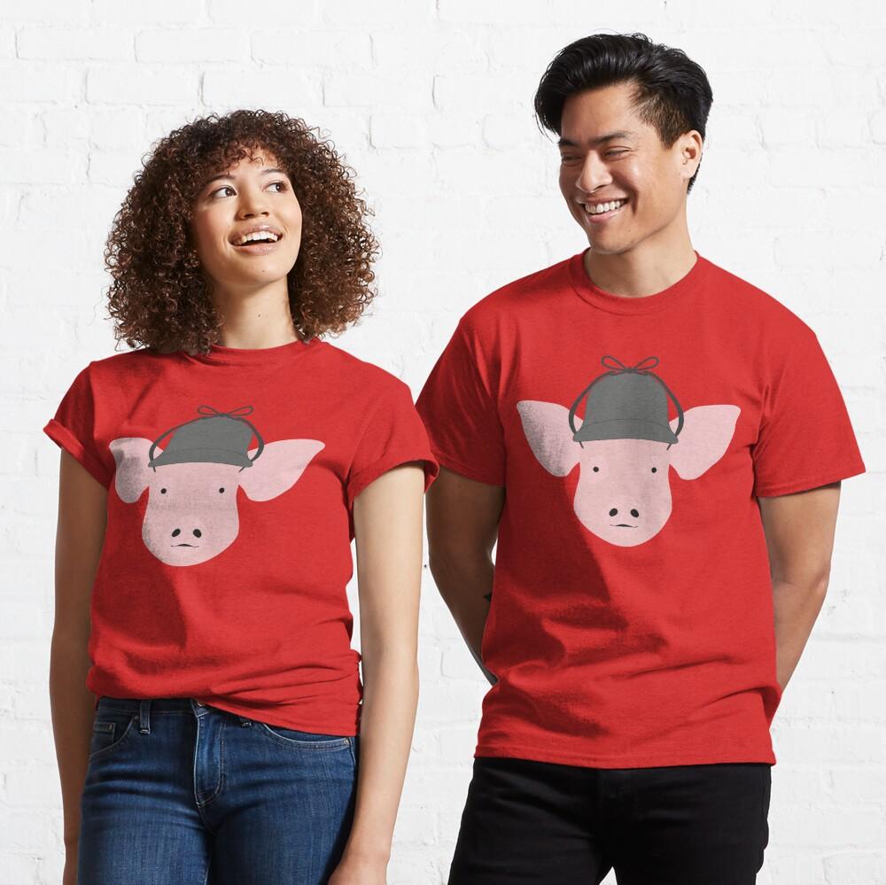 NDVH Pig Wearing a Deerstalker Classic T-Shirt