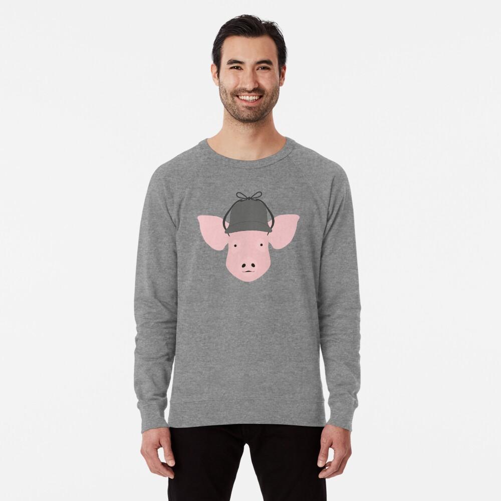 NDVH Pig Wearing a Deerstalker Lightweight Sweatshirt