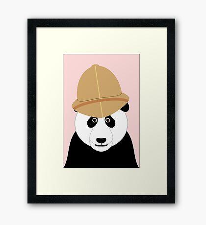 NDVH Panda Wearing a Pith Helmet Framed Print