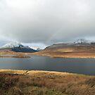 Faint Rainbow across Inverpolly mountains by Maria Gaellman