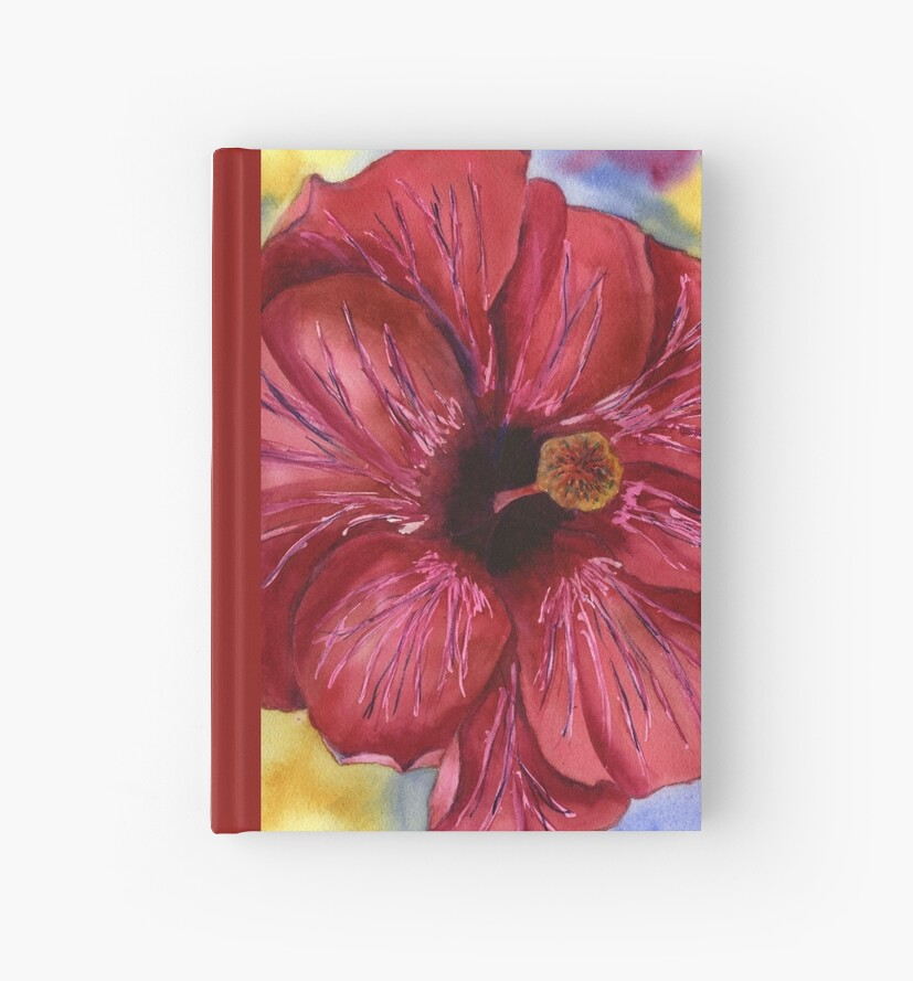 Groovy Red Hibiscus by Gayela Chapman