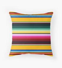 Colorful Mexican Poncho pattern Throw Pillow