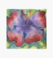 Red and Purple Groovy Hibiscus Scarf
