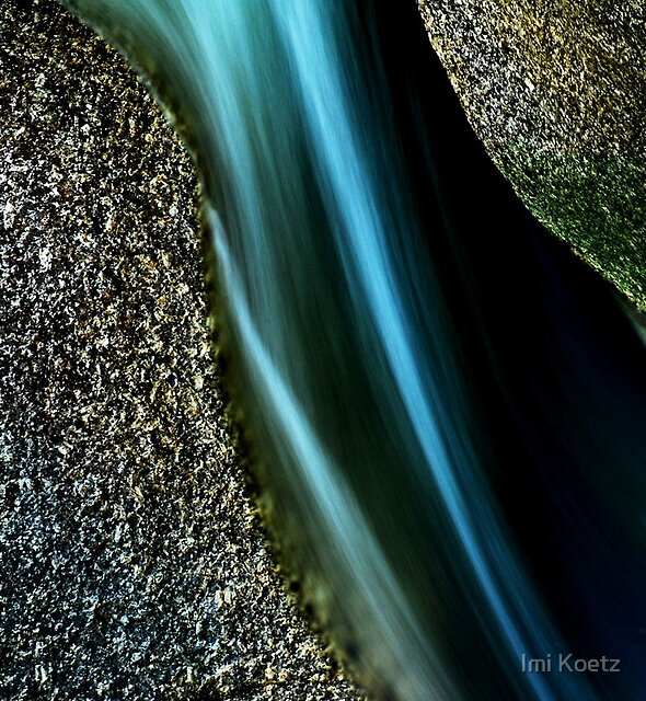 Small Cave with a blue Stream in Queensland...... by Imi Koetz