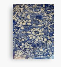 chinese ceramic blue Canvas Print