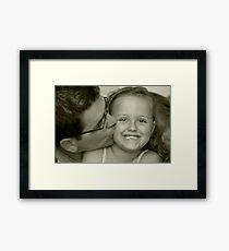 Kisses and Smiles Framed Print