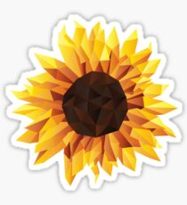 Polygonal Sunflower Sticker