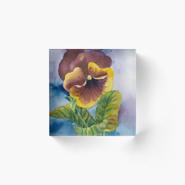 A Pansy for Your Thoughts Acrylic Block