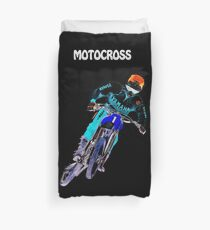 Motocross Blue Duvet Cover