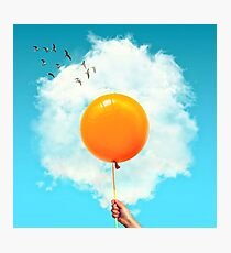 Sunny Fried Egg Balloon Photographic Print