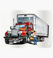 Truck and trailer Poster