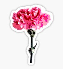 Psychedelic carnation Sticker