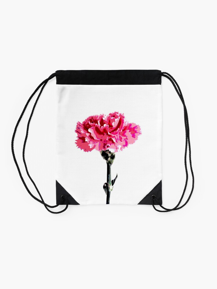 Alternate view of Psychedelic carnation Drawstring Bag
