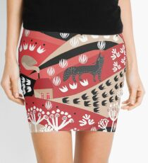 Wolf's Promise Land Mini Skirt