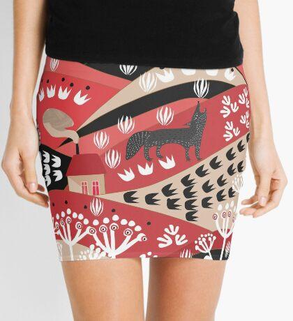 Wolf's Promise Land Mini Skirt