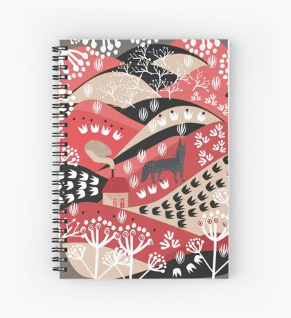 Wolf's Promise Land Spiral Notebook