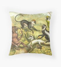 Primate types Circa 1874 Throw Pillow