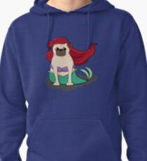 The Little Mer-Pug version 2 Pullover Hoodie