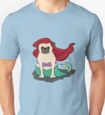 The Little Mer-Pug version 2 T-Shirt