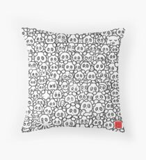 Finding Easter Eggs Throw Pillow