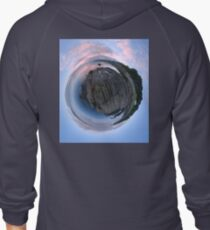 Moville Shoreline, Lough Foyle, at Dusk, Donegal Zipped Hoodie