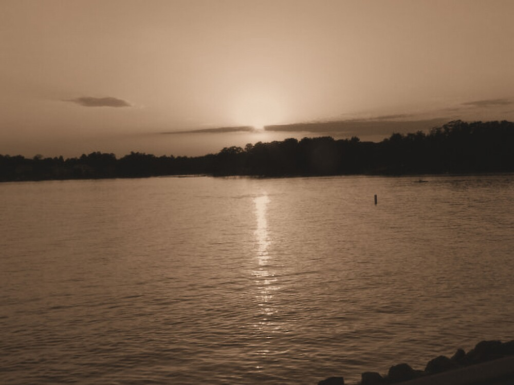 Sunset Over Lake Murray Outside Columbia, SC by Ray1945