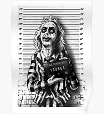 Mugshot Art by Marcus Jones / Screaming Demons Poster