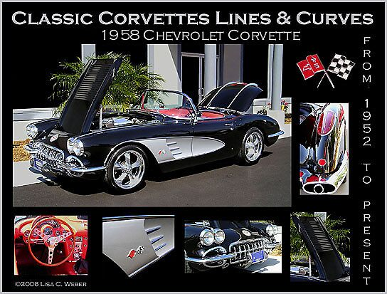 Classic Corvette Lines & Curves Poster 1 by Lisa  Weber