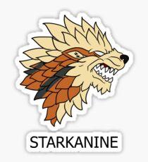 Starkanine house Sticker