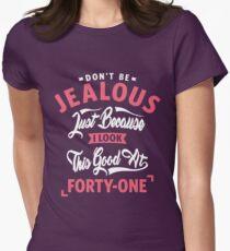 Camiseta entallada para mujer 41 ° cumpleaños