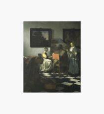 Stolen Art - The Concert by Johannes Vermeer Art Board