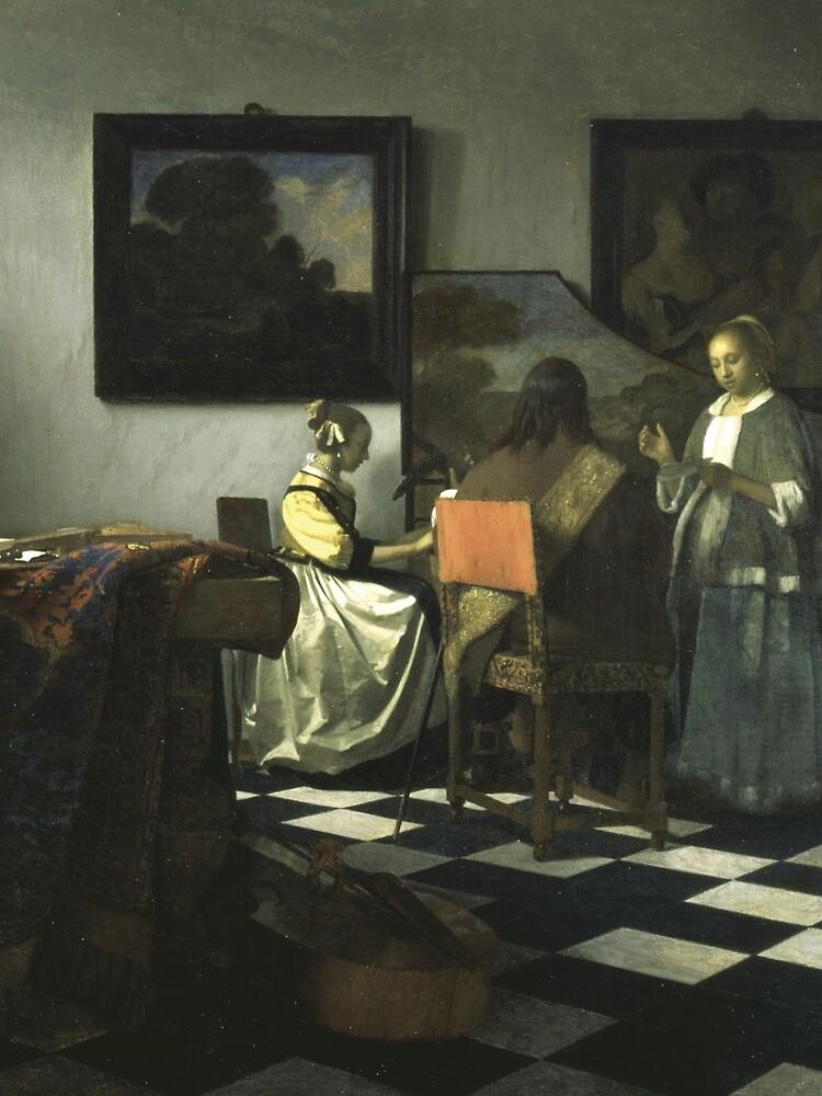 Stolen Art - The Concert by Johannes Vermeer by podartist