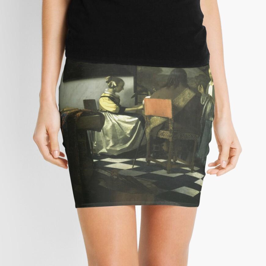 Stolen Art - The Concert by Johannes Vermeer Mini Skirt