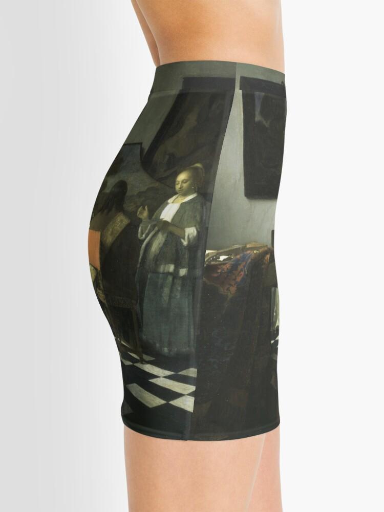 Alternate view of Stolen Art - The Concert by Johannes Vermeer Mini Skirt
