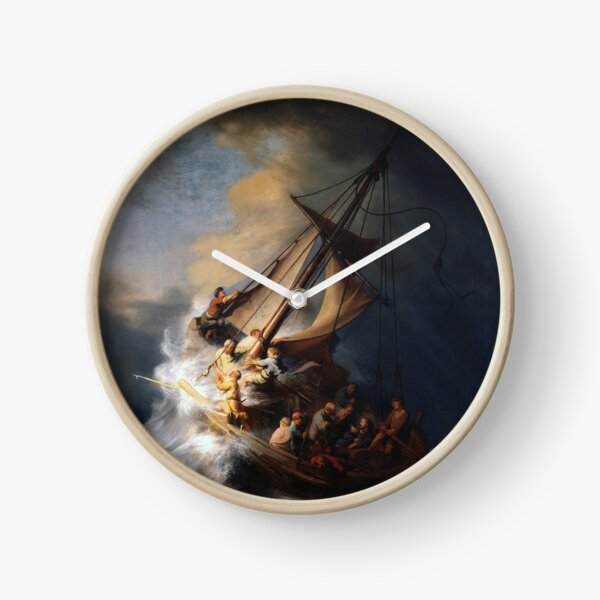Stolen Painting - The Storm on the Sea of Galilee Clock