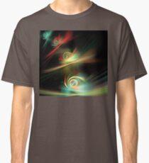 Aqua Red Swirls Classic T-Shirt