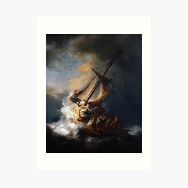 Stolen Painting - The Storm on the Sea of Galilee Art Print