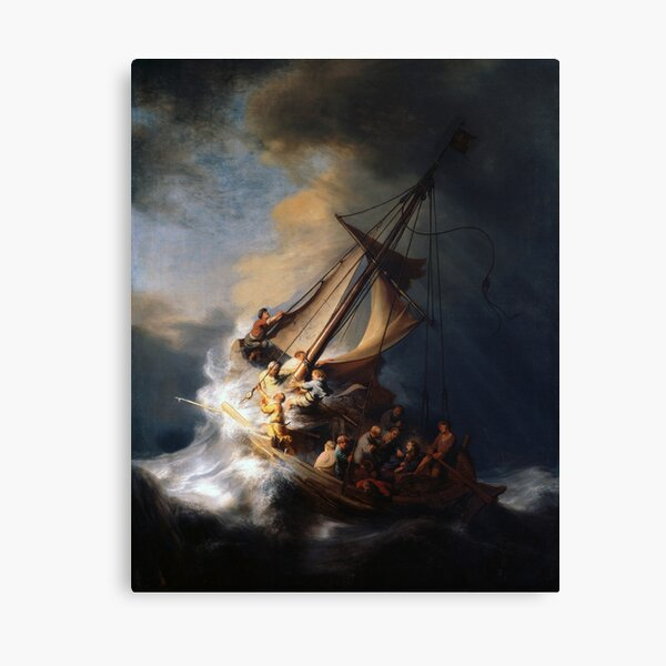 Stolen Painting - The Storm on the Sea of Galilee Canvas Print