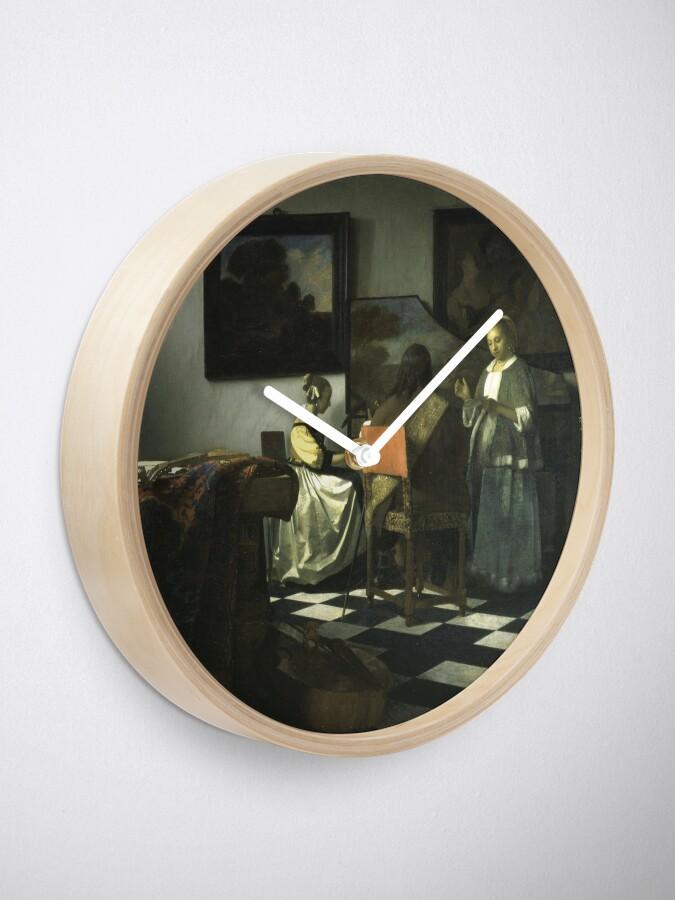Alternate view of Stolen Art - The Concert by Johannes Vermeer Clock