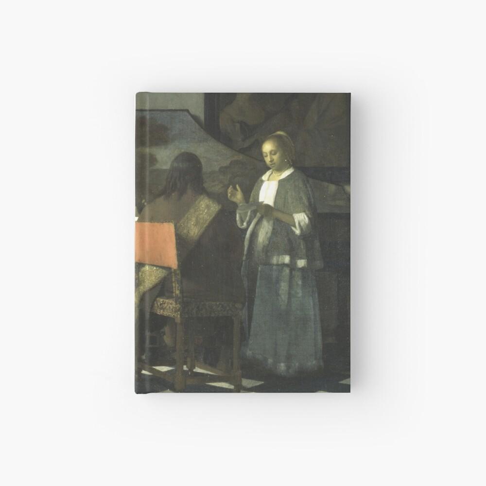 Stolen Art - The Concert by Johannes Vermeer Hardcover Journal