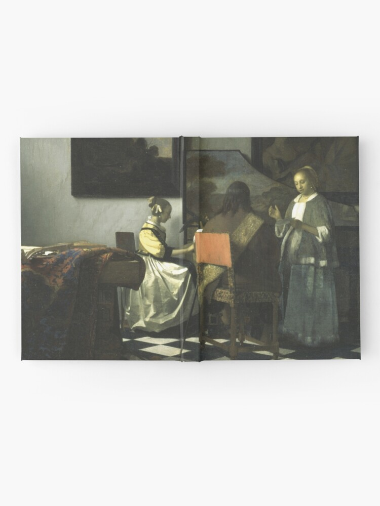 Alternate view of Stolen Art - The Concert by Johannes Vermeer Hardcover Journal