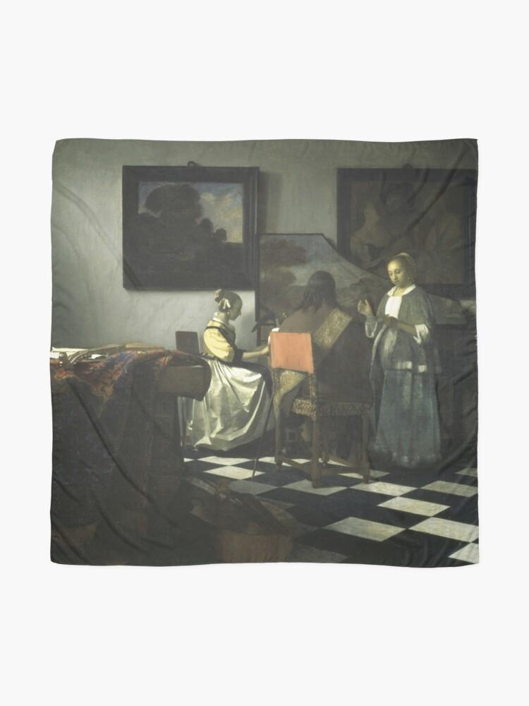 Alternate view of Stolen Art - The Concert by Johannes Vermeer Scarf