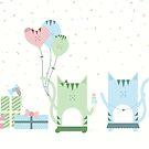 Traveling Tabbies: Happy Birthday! by Jess Emery