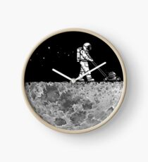 MOON CLEANING Clock
