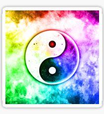 Galactic Harmony And Balance Yin Yang Sticker