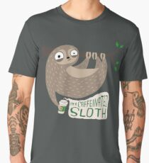 Caffeinated Sloth Men's Premium T-Shirt