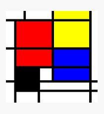 Mondrian style art deco design in basic colors Photographic Print