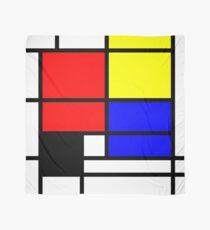 Mondrian style art deco design in basic colors Scarf